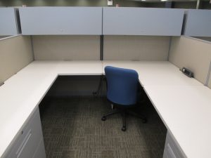 8' x 8' Haworth Places Series used office furniture
