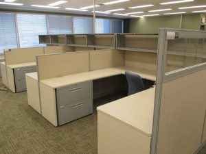 8' x 8' Haworth Places Series workstations