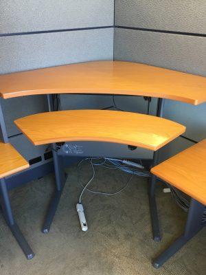 Teknion Transit Series private suite corner tables
