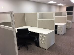 Haworth Places 8' x 8' L-shape workstations