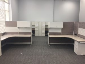 Used Teknion Leverage Series office furniture in Calgary