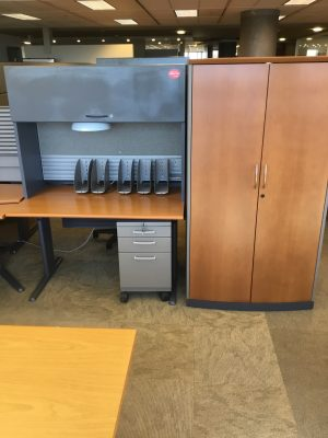 Teknion Transit Series workstation and cabinet
