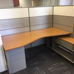Herman Miller Canvas workstations with cabinets