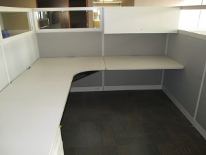 Used Haworth Places 8' x 8' office furniture in Calgary