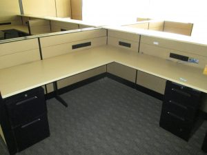 Teknion Leverage Series Tan Modular Workstations