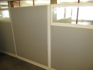 Haworth Places 8' x 8' L-shape workstation panels with glass