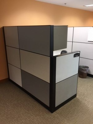 Steelcase Montage Series L-shaped workstation panels