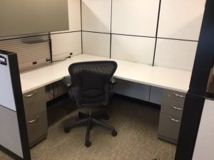 Steelcase Montage Series L-shaped workstations