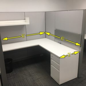 Steelcase Answer used workstations with measurements