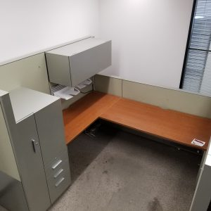 Used Steelcase Answer 7' x 7' workstation