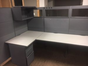 Teknion Leverage Series 5.5' x 5.5' workstations
