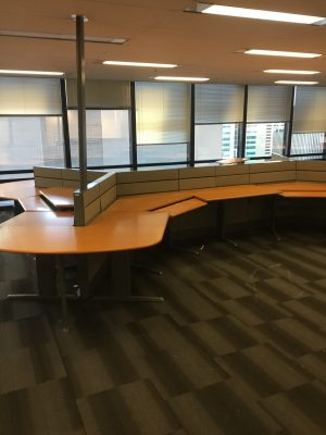 Teknion workstations for traders
