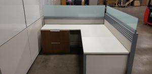 Teknion District 6X6 L- Shape Workstation