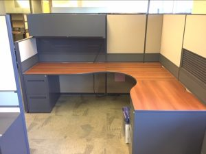 Global Boulevard 6-1/2' X 8' L-Shape Workstation