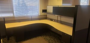 Teknion Leverage 8' X 8.5' L - Shape Workstation