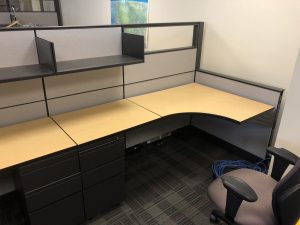 Herman Miller Canvas 6' X 6' L - Shape Workstation