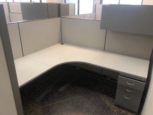 Steelcase Kick 7' X 7' L - Shape Workstations