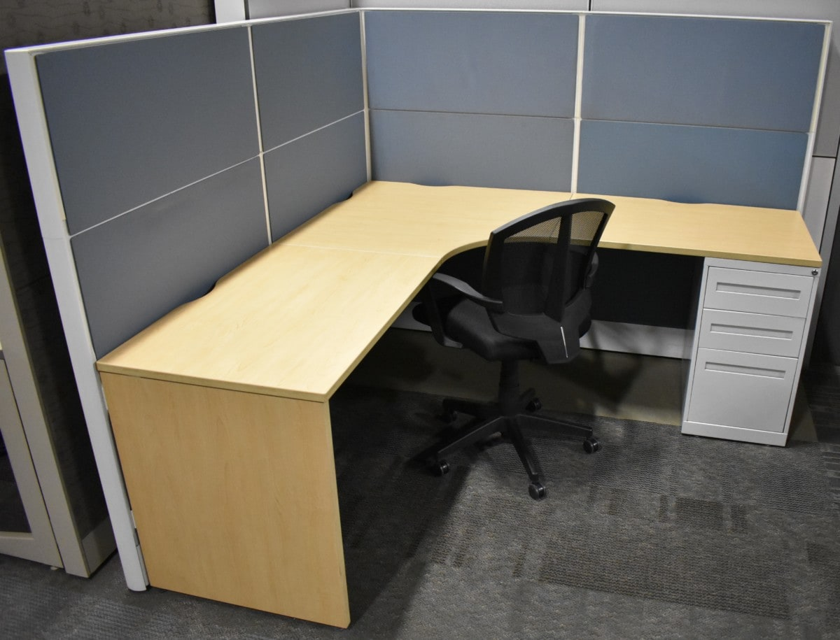 Global Boulevard 6′ x 6′ L-shaped Workstation
