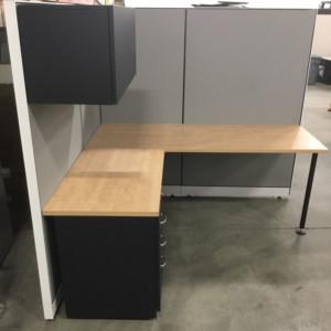 steelcase kick series l shape workstation