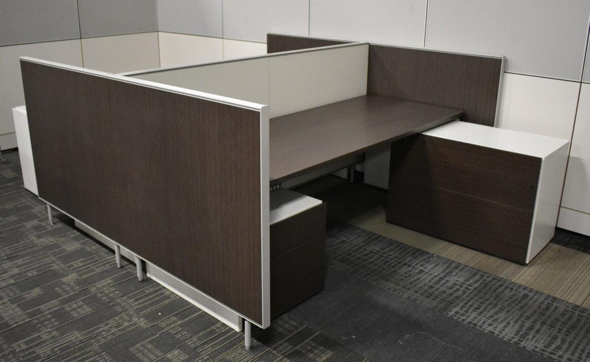 UniFor L-Shape Height Adjustable Workstations